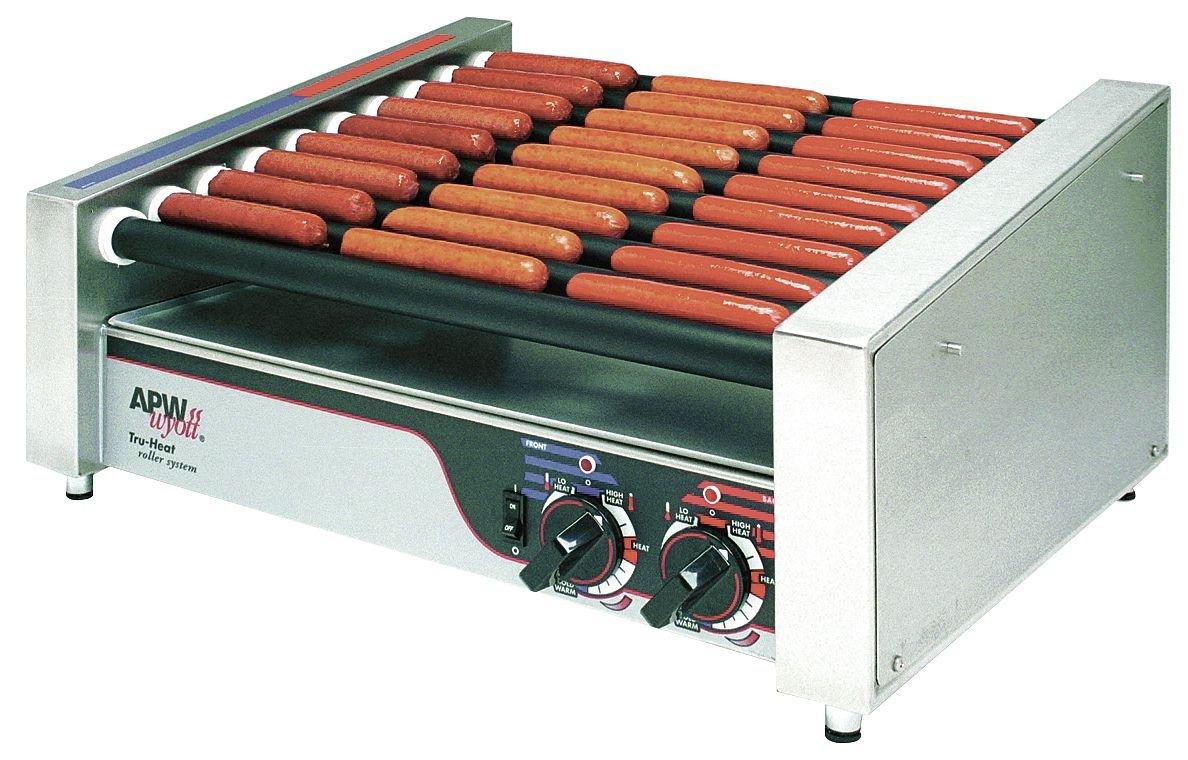 APW Wyott Slanted HotRod Slanted Roller Grill, 11 1/4 x 34 3/4 x 18 5/8 inch -- 1 each.