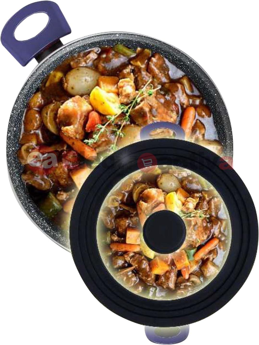 Pceewtyt Lot de 2 supports extensibles pour couvercle de casserole multi-usages pour cuisini/ère planche /à d/écouper po/êles plaques de cuisson