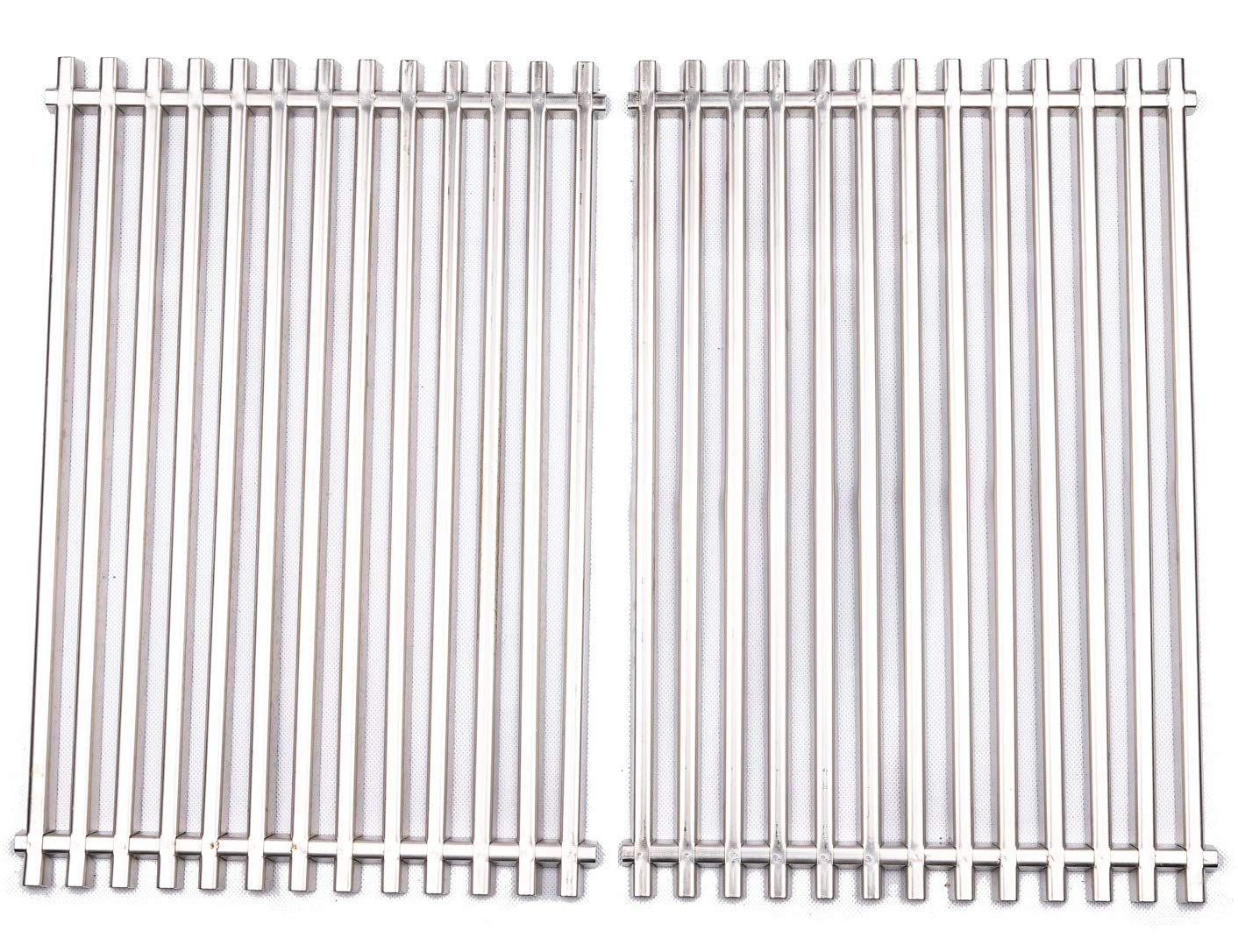BBQ funland GS521 Aftermarket Stainless Steel Cooking Grid/Cooking Grates Replacement for Weber 7521, Lowes Model Grills and Others, Set of 2 by BBQ funland