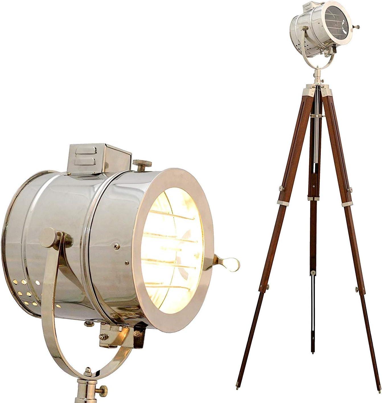Vintage LED Tripod Floor Lamp Vintage Home Decor Lighting Nautical marine Lamp
