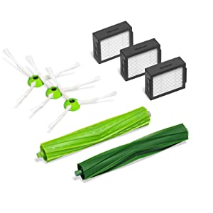 iRobot Authentic Replacement Parts- Roomba i7 and i7+ Replenishment Kit (3 High-Efficiency Filters, 3 Edge-Sweeping Brushes, and 1 Set of Multi-Surface Rubber Brushes)