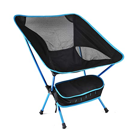 romatlink Camping Chairs,Folding Portable Compact Collapsible Chairs, Comfort Durable Beach Chair with Carry Bag – Heavy Duty 250lbs Capacity Hiker Camp Beach Outdoor