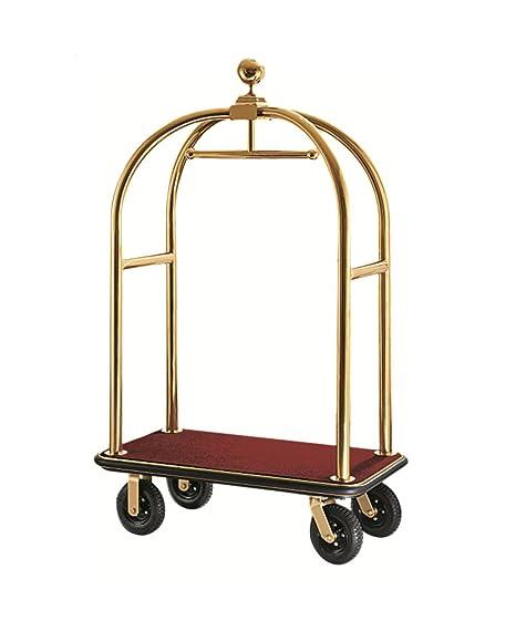 Equipaje carrito transportador Hotel coche maleta coche furgoneta Hotel necesidades oro gris