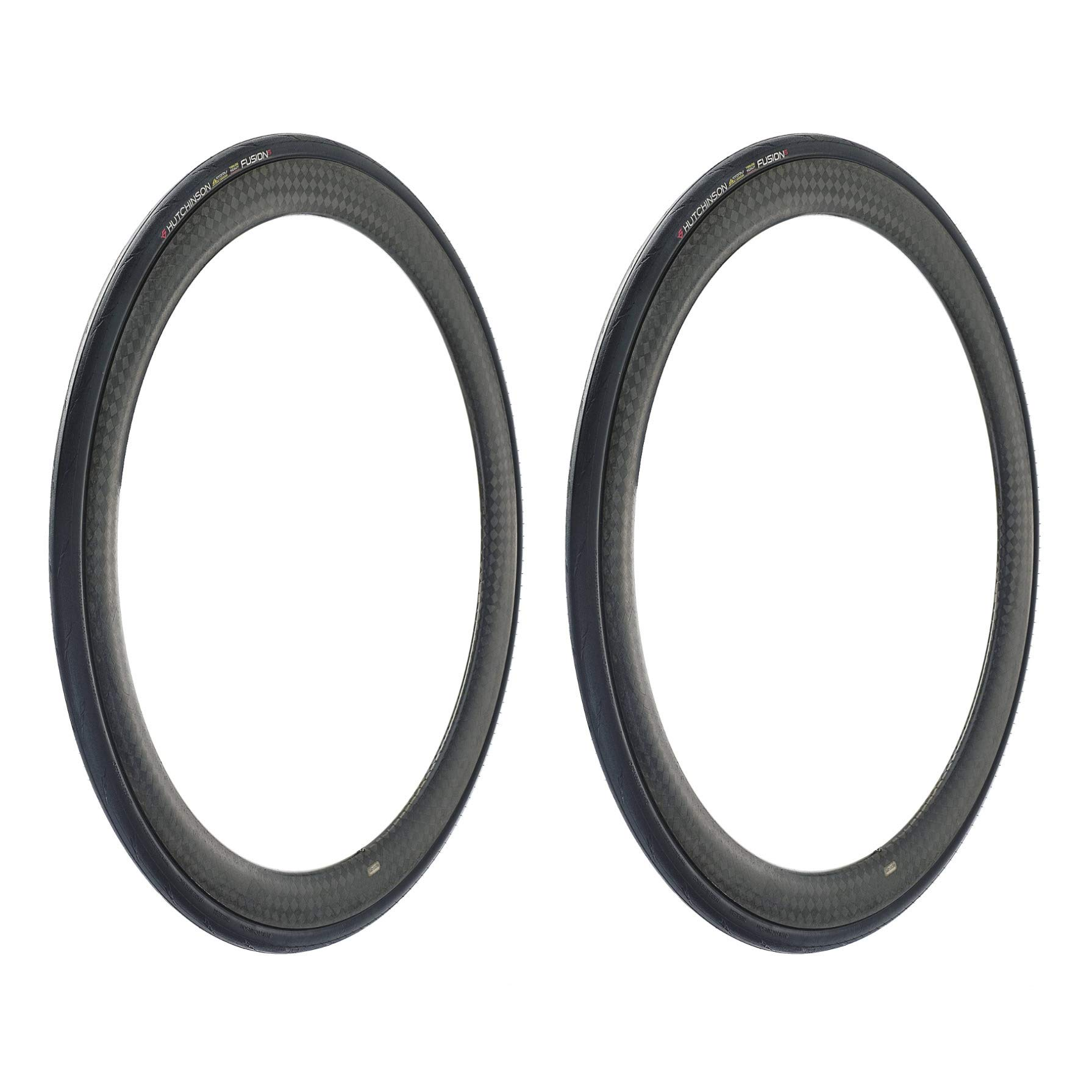 Hutchinson Bike Tires Fusion 5 All-Season Tubeless Ready Bicycle Tires, 2-Pack, 700x25, with ElevenStorm Tread