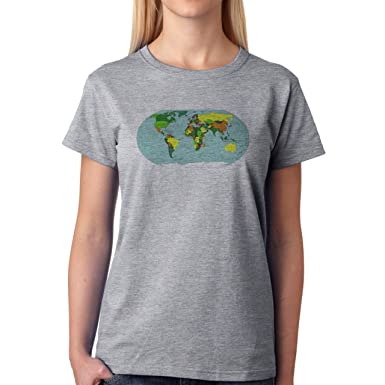 World map round colorful water xxl donne t shirt amazon world map round colorful water xxl donne t shirt gumiabroncs Gallery