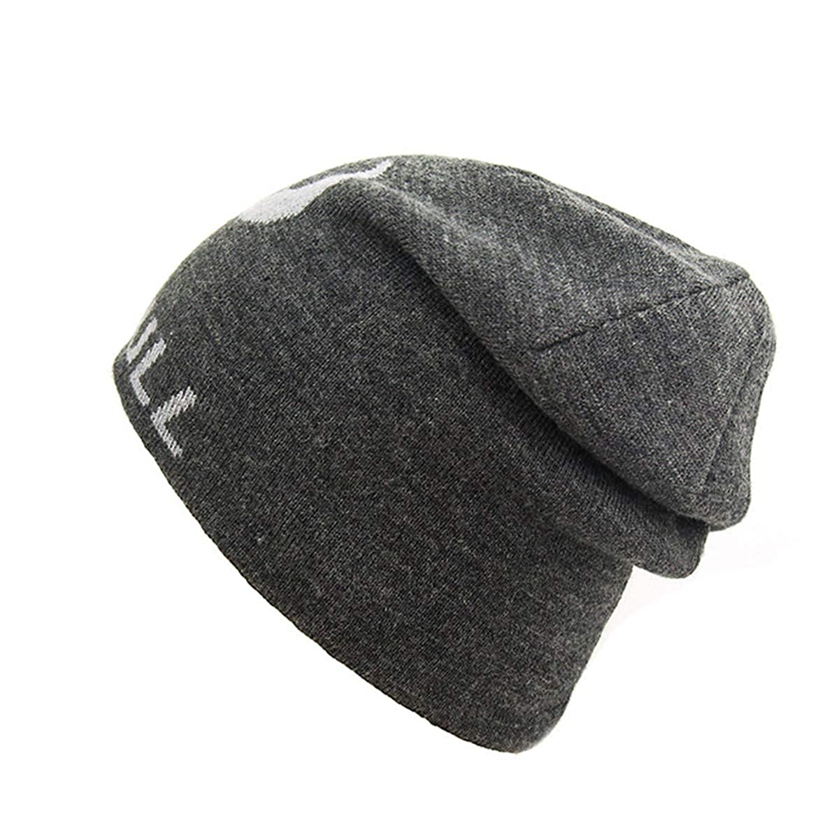 Feiboy Lavable Grueso Crochet de Hats Invierno Al Aire Libre Hombres Gorros  De Punto Cómodo Acolchado Sombrero Tejido Suave Cálido Hat Clásico Plegable  ... e2e40606cff