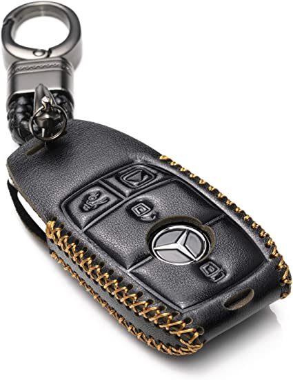 dise/ño de Mercedes Benz Aut/éntica Premium piel llavero