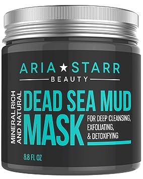 Aria Starr Mascarilla de barro del mar Muerto, para la cara, el acné