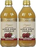 Spectrum Naturals Organic Apple Cider Vinegar, Unfiltered, 16 oz, 2 pk