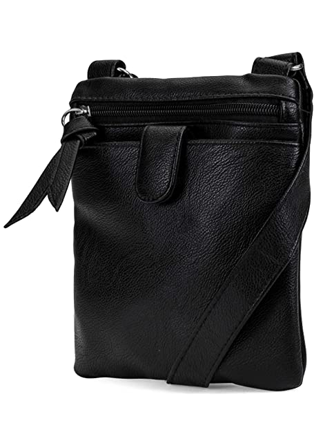 ad07ed661 Mundi Traveler RFID Crossbody Wallets For Women Cell Phone Purse (Black):  Handbags: Amazon.com