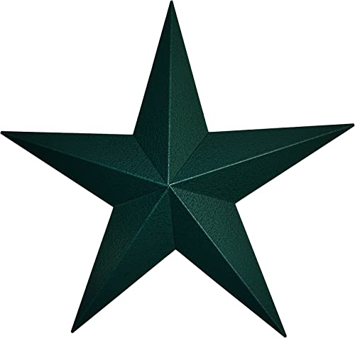 AMISH WARES 72 Inch Heavy Duty Metal Barn Star Painted Hammered Green.