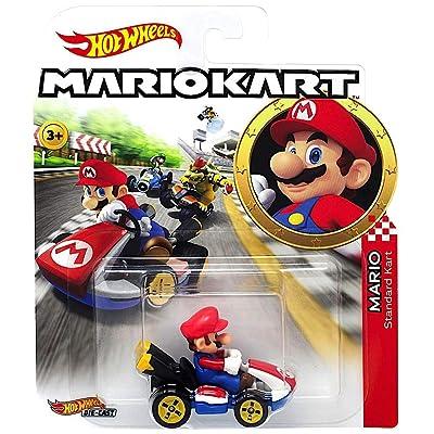 Hot Wheels Mario Kart Character Car Diecast 1:64 Scale - Mario: Toys & Games
