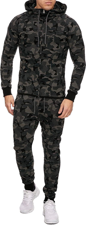 OneRedox Herren Jogginganzug Sportanzug Modell 713 Camouflage