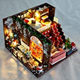 Kisoy DIY Dollhouse Kit, 1:24 Scale Exquisite Miniature with Furniture, Dust Proof Cover and Music Movement, Your Perfect Cra