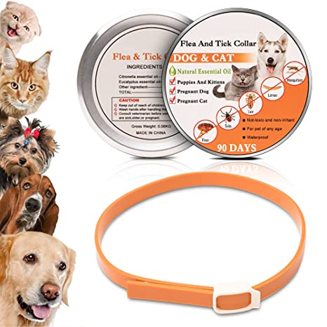 Wolfwill collar antiparásitos anti-pulgas y garrapatas con Essentiel Natural para perro/