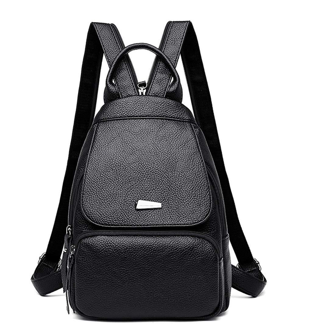 Women Leather Backpack Luxury Designer Travel Shoulder Bag Female Backpack For Girls Ladies Bagpack Black backpacks