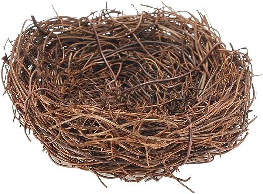 Handmade Vine Twig Bird Nest Home Nature Craft Holiday For Photo Garden