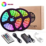 LED Strip Lights, YORMICK 32.8Ft/10M 300LED Light Strip SMD 5050 Waterproof Flexible RGB Strip Lights with 44 Keys IR…
