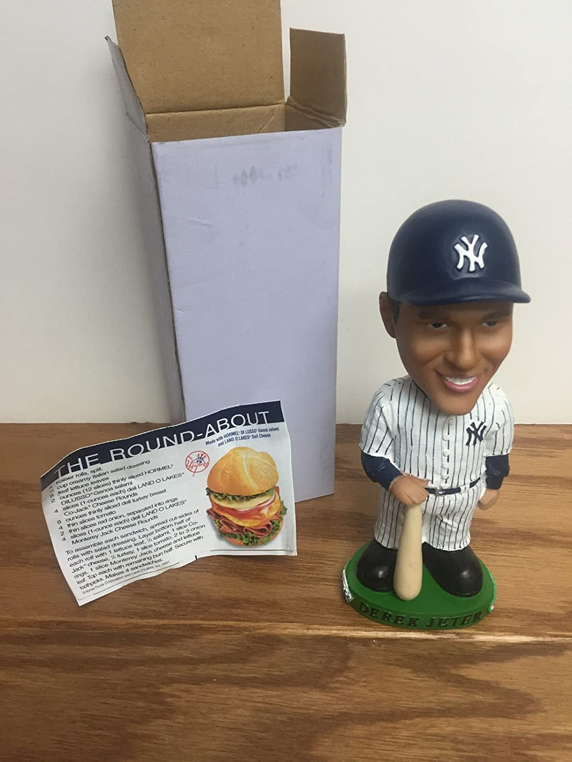 Derek Jeter 2001 New York Yankees Bobblehead Bobble holding bat with coupon SGA