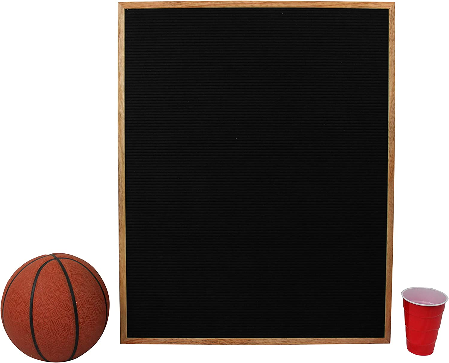 Letter Box and 450 Characters 24 x 30 Black Letter Clippers Extra Large Changeable Letter Board//Orientation Board Black Felt with Solid Oak Frame Wall Mount Canvas Bag