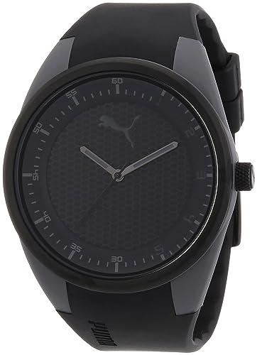 PUMA PU911001003 - Reloj (Reloj de pulsera, Masculino, De plástico, Acero inoxidable