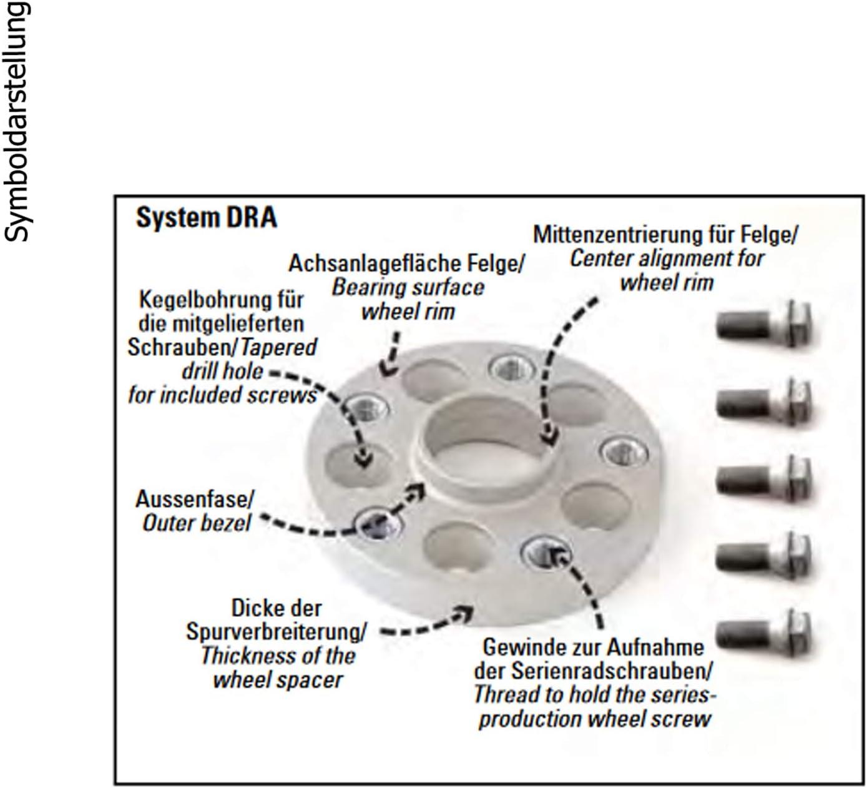 Bremsenreiniger H/&R DRA Spurplatten Spurverbreiterung Distanzscheibe /Ø72,5 5x120 50mm //// 2x25mm