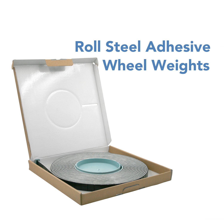 CK Auto 0.25oz, Black, Adhesive Stick on Roll Wheel Weights, 5kgs/roll,715pcs, US Quality