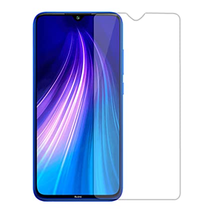 Hupshy Tempered Glass Screen Guard for Mi Redmi Note 8   Transparent  Pack of 1  Mobile Accessories