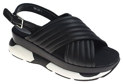 baec151dc20 AnnaKastle Womens Quilted Vegan Leather Criss-Cross Platform Sandals Black