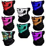 CIKIShield Couples Seamless Skull Face Tube Mask Black (8pcs-Color Set)
