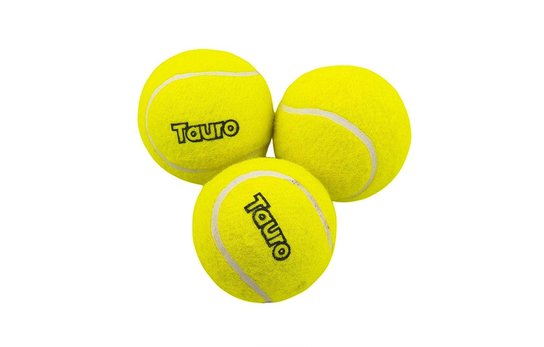 TAURO Tennis Zing Tennis Cricket Ball- Set of 3 (Yellow)