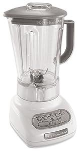 KitchenAid 5-Speed Blenders with Polycarbonate Jars, White
