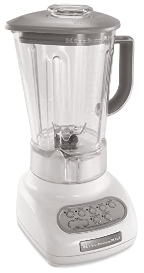 kitchenaid ksb560wh 5 speed blender with polycarbonate jar white rh amazon ca