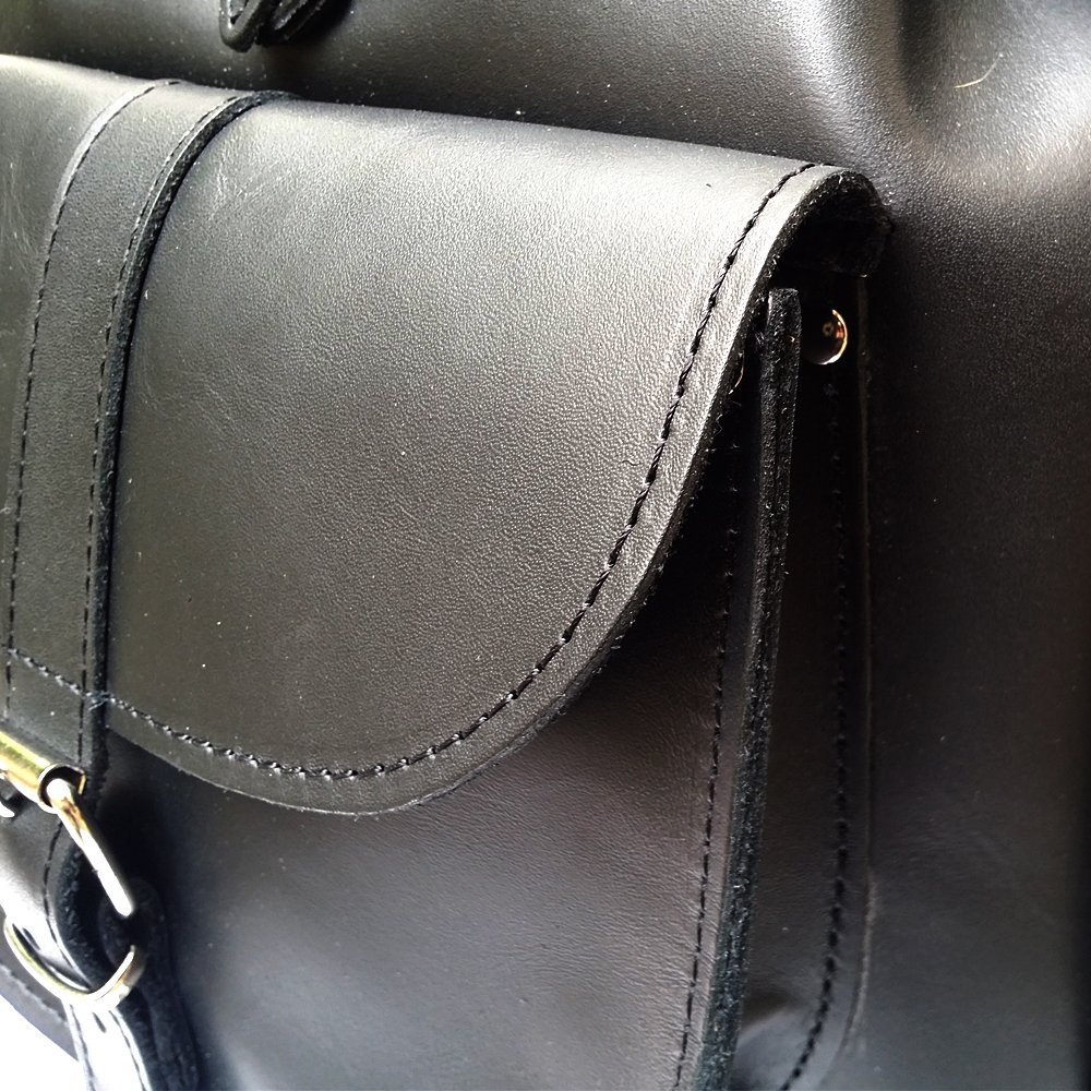 BLACK LEATHER BACKPACK Woman Backpack from Real Full Grain Leather