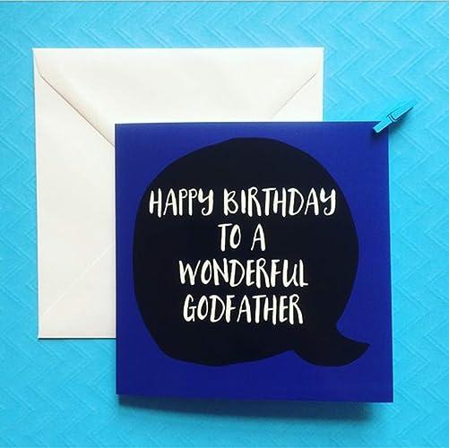 Godfather Birthday Cards Happy Card