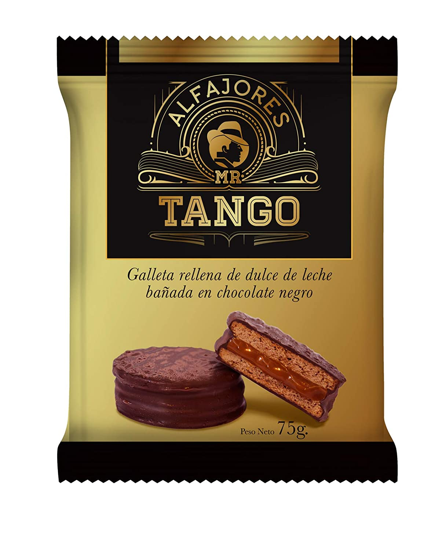 Alfajores de Chocolate rellenos de Dulce de Leche (Pack de 12 Negro): Amazon.es: Alimentación y bebidas