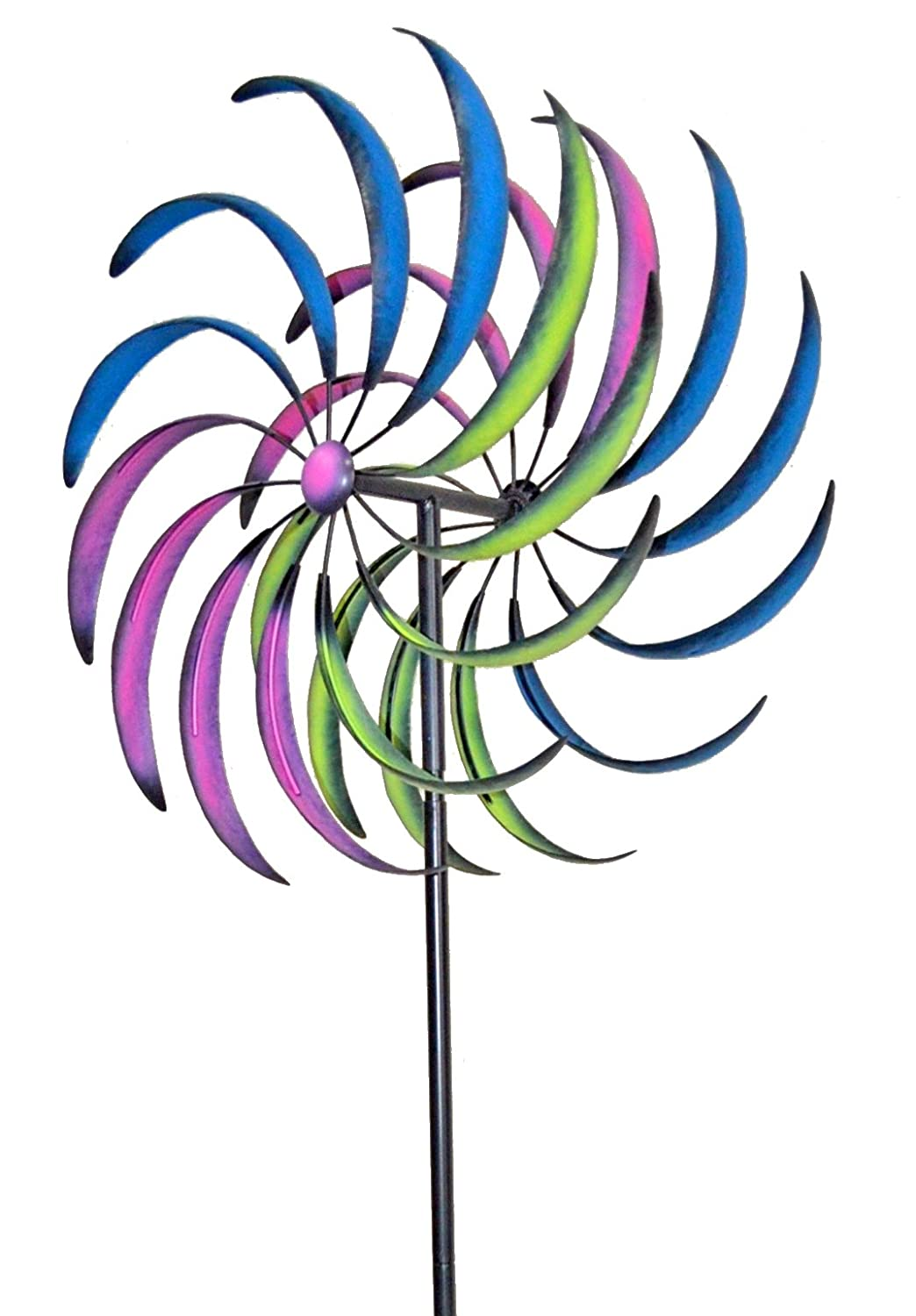 Garden accessory Decoration Jardinion Windmill made of metal Bird protection Shooters Scarecrows Reflections Multicolore ST