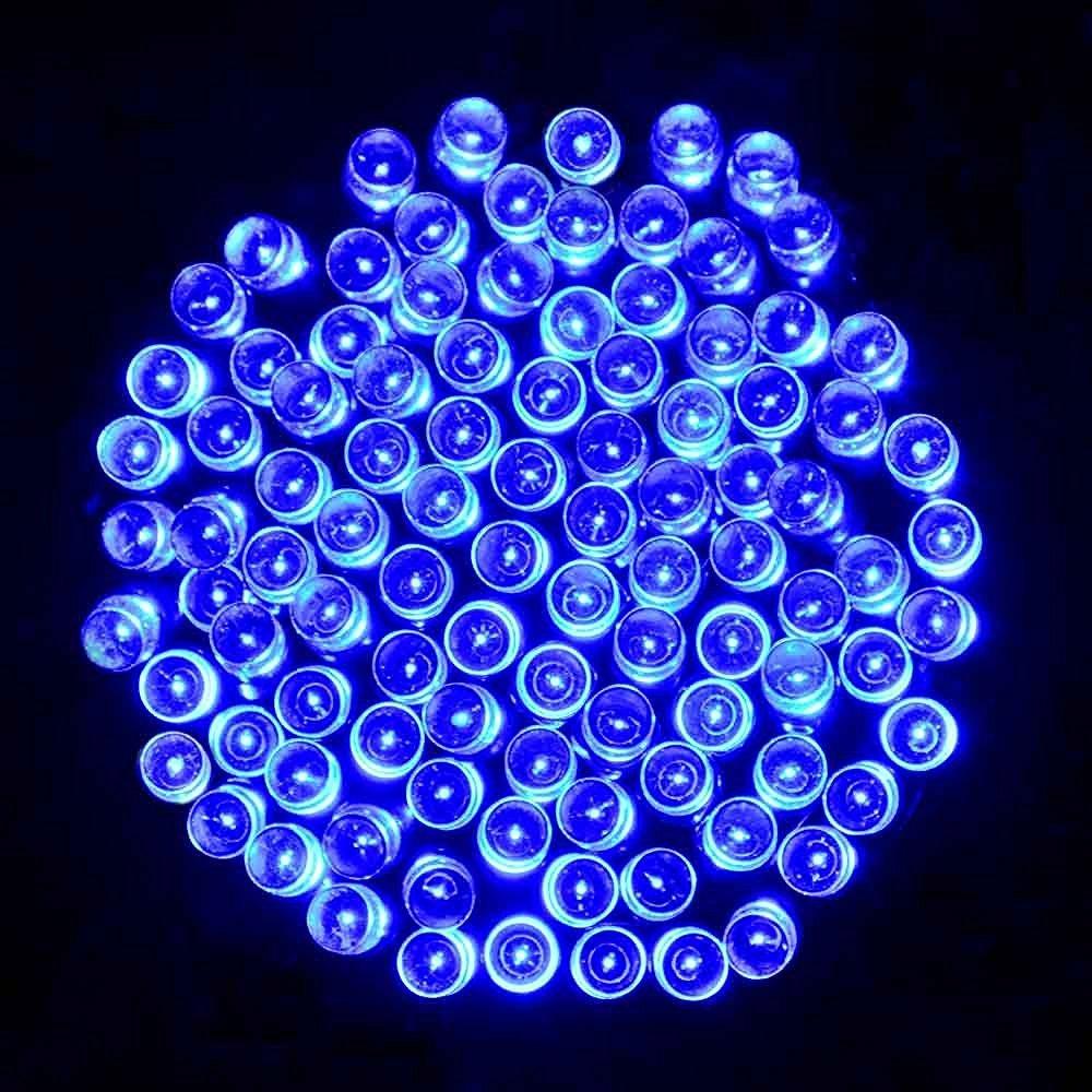 lederTEK LED Lichterkette Außen Batterie 15,6m 200LED 8 Modi mit ...