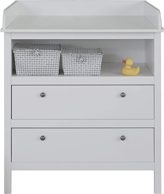 Wickelkommode in Weiß oder Buche mit 3 Schubladen Babykommode