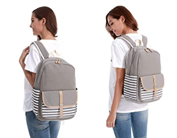 Amazon.com: XHHWZB French Breton Nautical Striped Backpack Rucksack Marine Sailor Navy Stripy School Bags for Teenager Girls (Color : Beige): Office ...