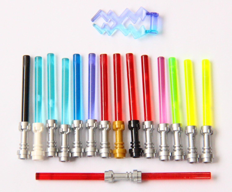 5x LEGO Star Wars weapon Lightsaber with Metallic Hilt trans purple