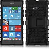 Nokia Lumia 730 - Stylish Heavy Duty Hard Back Armor Shock Proof Case Cover with Back Stand Feature & Free Screen Protector by Accessories Collection