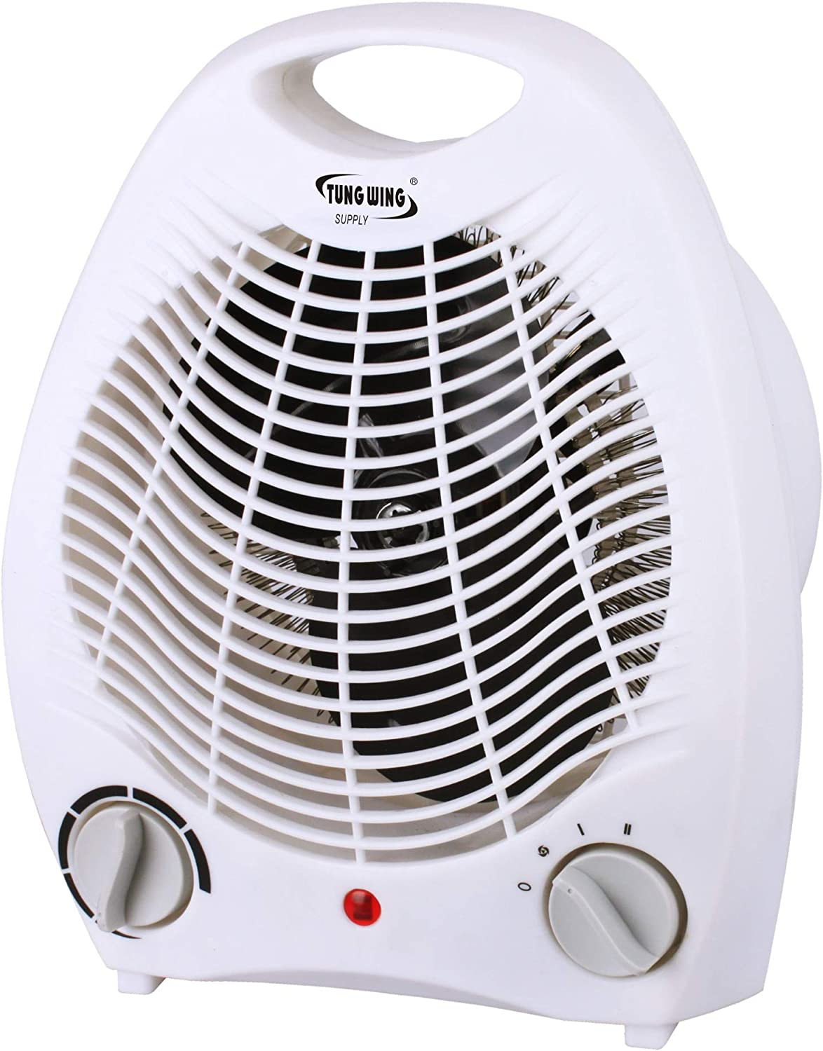 Tung Wing Supply, 1500W Fan Portable Heater with Adjustable Thermostat, Overheat and Tip-Over Protection - Perfect For Home & Office-CE, GS, ROHS, ETL Certificated