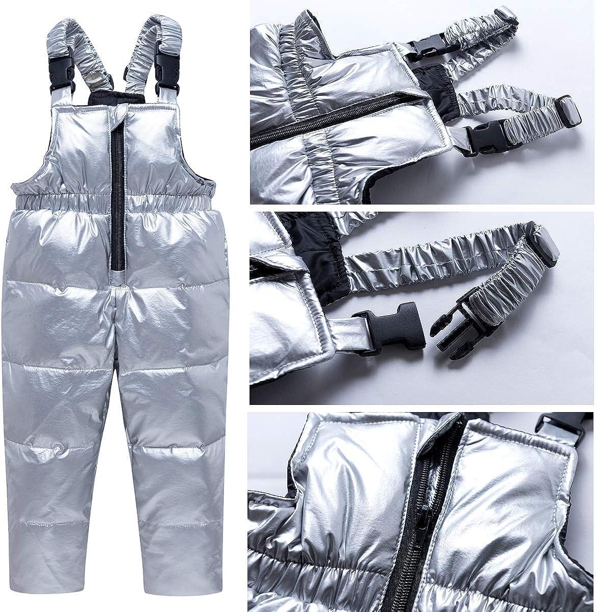 Kids Winter Puffer Jacket and Snow Pants 2-Piece Snowsuit Skisuit Set
