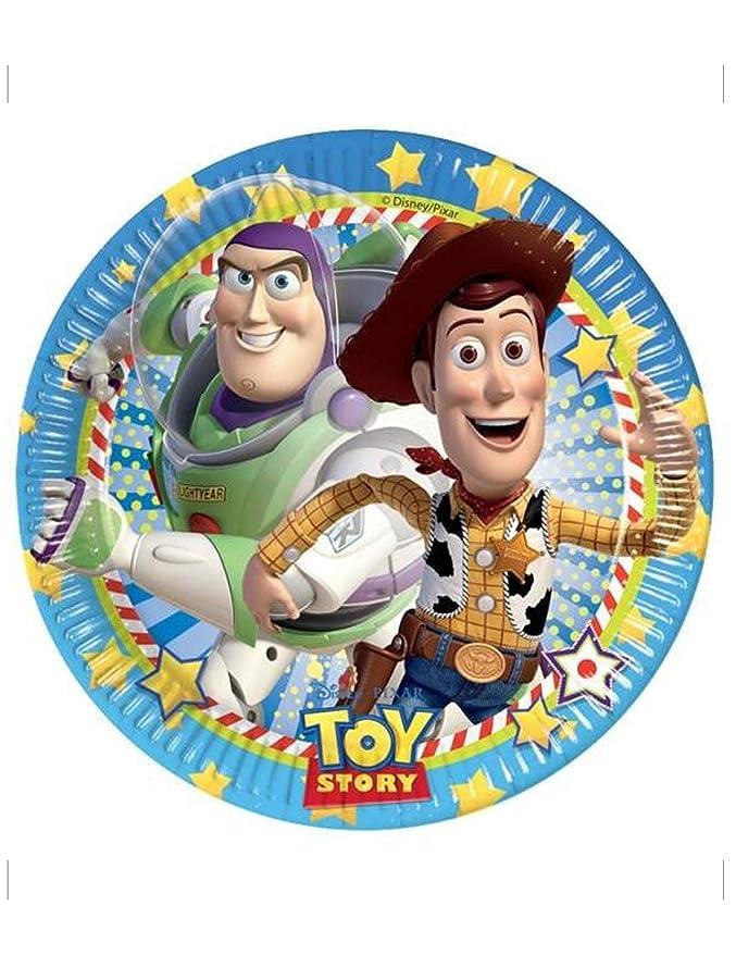 COOLMP - Juego de 6 Platos de cartón Toy Story Star Power ...