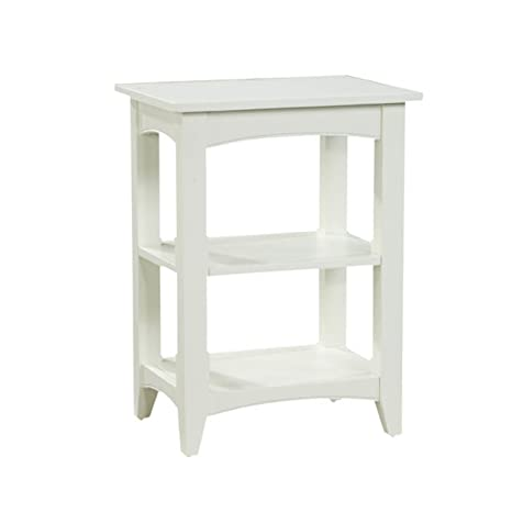 Amazon.com: alaterre Shaker Cottage 2-shelf mesa auxiliar ...
