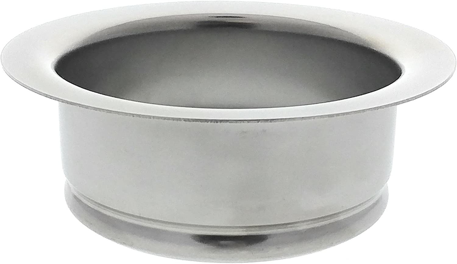 Kitchen Sink Flange, Stainless Steel Flange For Insinkerator Garbage Disposals And Other Disposers That Use A 3 Bolt Mount By Essential Values
