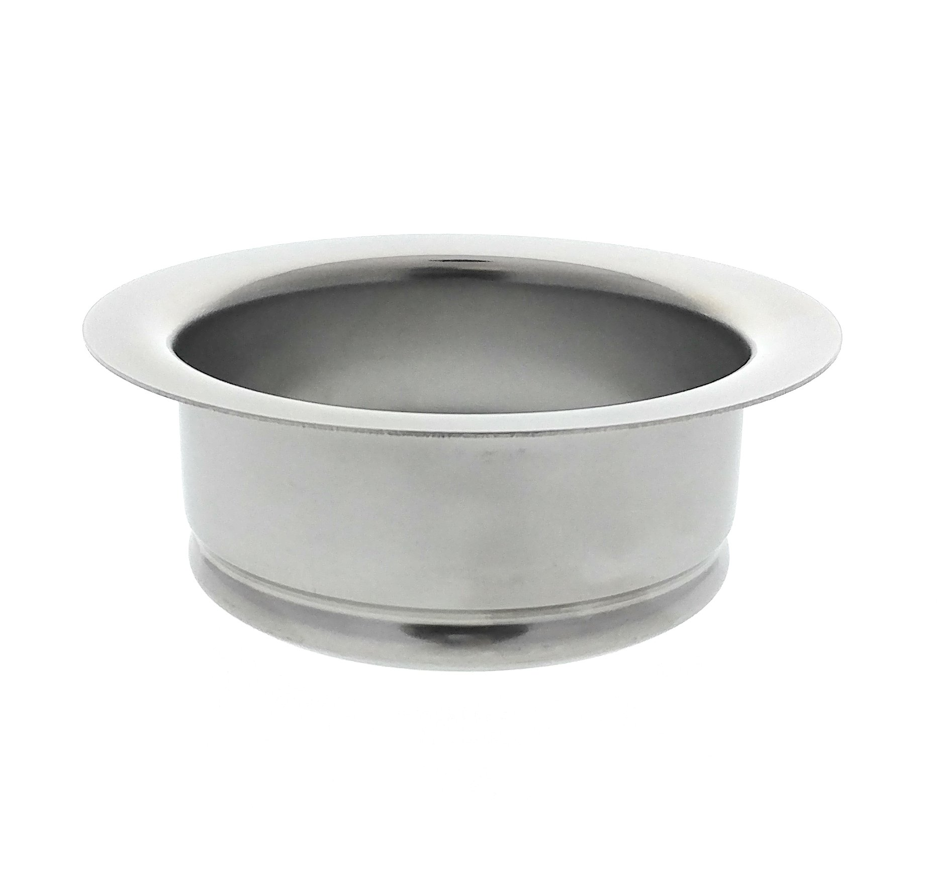 Kitchen Sink Flange, Stainless Steel Flange For Insinkerator Garbage Disposals And Other Disposers That Use A 3 Bolt Mount, By Essential Values by Essential Values
