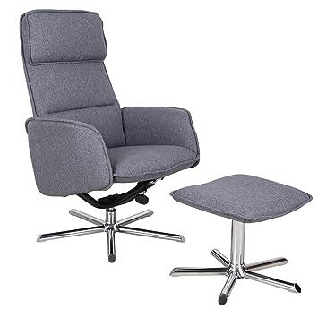CARO-Möbel Relaxsessel Reno Fernsehsessel TV Sessel mit Hocker, inkl ...
