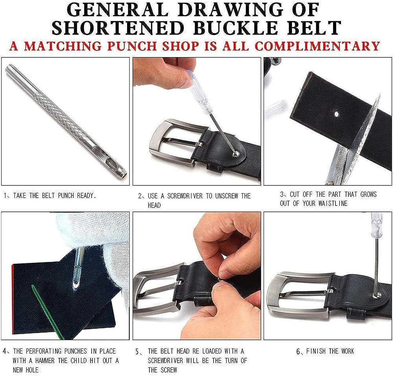 cl/ásico cintur/ón Jean para hombres pulgadas de ancho 1.5 3.8 cm Youjoy Cintur/ón de cuero para hombres
